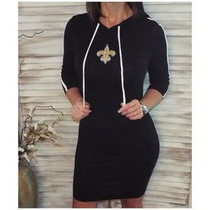 New Orleans Saints Fleur de Lis Bodycon Hood 1618
